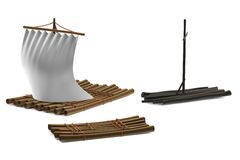 3d render of rafts Stock Photos