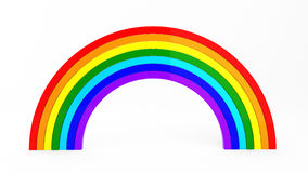 3d render of rainbow. On white Vector Illustration