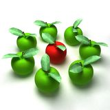 3d render of red and green apples Royalty Free Stock Photography
