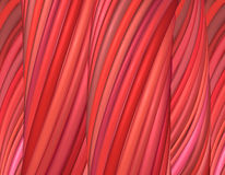 3d render red pink organic wave pattern Royalty Free Stock Photo