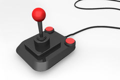 3d render of a retro joystick royalty free stock photo
