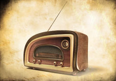 3D render of a retro styled radio Royalty Free Stock Photography