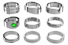 3d render of rings Stock Image