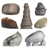 3d render of rocks Royalty Free Stock Photos