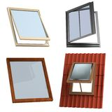 3d render of roof windows Royalty Free Stock Photography
