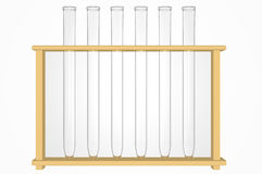 3d Render of a Set of Test Tubes Royalty Free Stock Photos