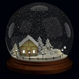 3d render of snowball Royalty Free Stock Photo