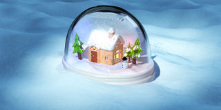 A 3D render of a snowglobe Royalty Free Stock Photos