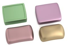 3d render of soaps Stock Images