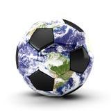 3d render of soccer ball on white. 3d render of earth soccer ball on white Royalty Free Illustration