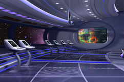 3D render of spaceship