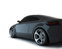 3d render sport car. On white Stock Photos