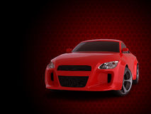 3d render sport car. Red comb background Royalty Free Stock Photography