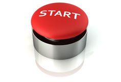 3d render of a start emergency button Stock Photography