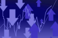 3d Render Stock Market Graph With Arrows Stock Photo