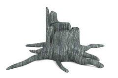 3d render of stump Stock Image