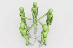 3d Render Team Work Crew. 3D Render Human Connections Team Work Crew Royalty Free Stock Image
