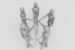 3d Render Team Work Crew Stock Images