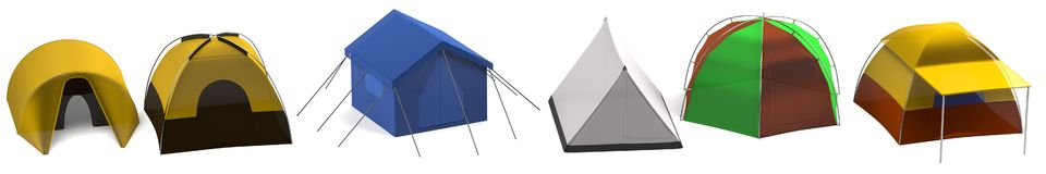 3d render of tents Royalty Free Stock Photo