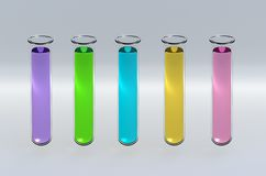 3D Render Test Tubes Royalty Free Stock Images