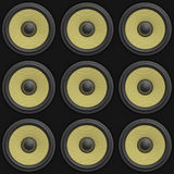 3d render of a tile able 3x3 array of speakers Royalty Free Stock Image