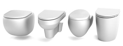 3d render of toilets Stock Photos