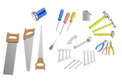 3d render of tools Royalty Free Stock Images