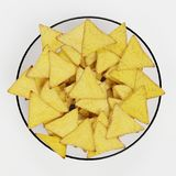 3D Render of Tortilla Chips Royalty Free Stock Photography