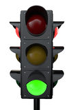 3d render traffic lights Stock Photos