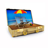 3D render of Travel Suitcase Royalty Free Stock Image