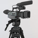 3D render of a video camera on tripod Royalty Free Stock Image