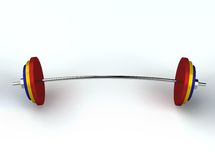 3D render of weightlifting weights Royalty Free Stock Image