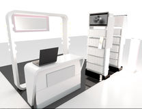 3D Render With Design Shelf And Counter Royalty Free Stock Image