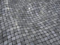 3d render wobble mosaic tile floor wall surface. 3d wobble mosaic tile floor wall surface Stock Photo