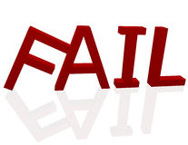 3d Render of the Word Fail Stock Photo