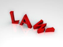3D Render of the word Law Stock Photos