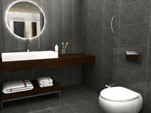 3D rendered bathroom Stock Photo