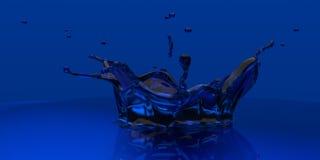3D rendered blue xray slpash Royalty Free Stock Image