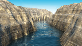 3d rendered canyon Royalty Free Stock Images