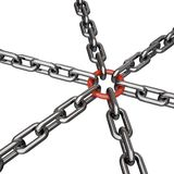 3d rendered chains Stock Photos