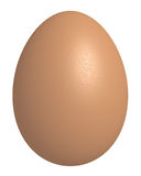 3d rendered chicken Egg isolated Royalty Free Stock Photos