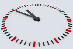 3D rendered clock Stock Photography