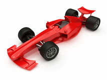 3D rendered Concept formula Car. 3D rendered red Concept formula Car Stock Photography
