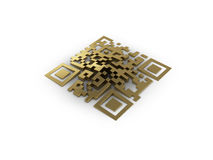 3d Rendered Concept Of A Qr-code. Stock Image