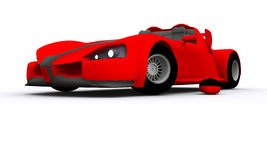 3D rendered Concept Sports Car. 3D rendered red Concept Sports Car Royalty Free Stock Photography