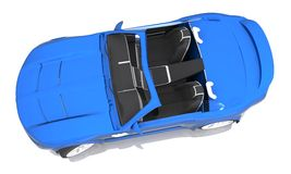 3D rendered Concept Sports Car. 3D rendered blue Concept Sports Car Royalty Free Stock Photography