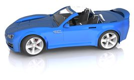 3D rendered Concept Sports Car. 3D rendered blue Concept Sports Car Stock Photography