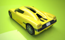 3d rendered concept supercar Royalty Free Stock Image