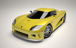 3d rendered concept supercar Royalty Free Stock Images
