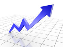 3d rendered conceptual arrow chart. Royalty Free Stock Photography